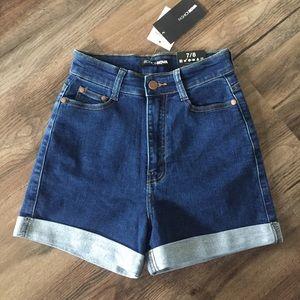 Fashion Nova High Waisted Denim Shorts